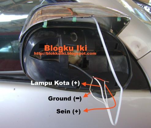 Gambar Cara menyambung kabel spion led Avanza