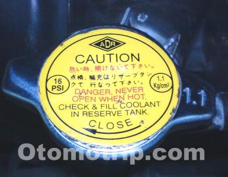 tutup radiator 16 psi atau 1,1 kgf/cm