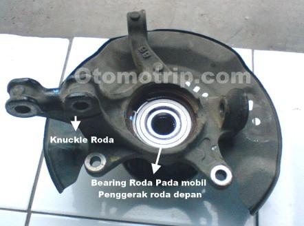 Knuckle dan bearing roda depan Toyota Limo