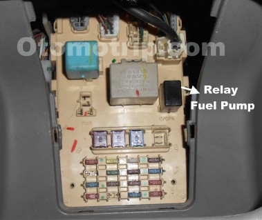 Letak Relay Fuel Pump Limo