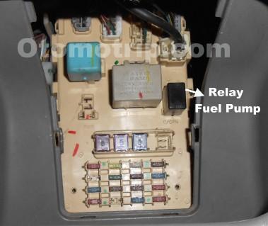 Gambar letak relay pompa bensin Toyota Limo
