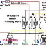 Gambar skema rangkaian lampu relay mobil