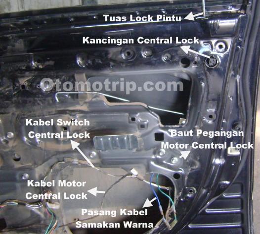 Cara memasang motor central lock