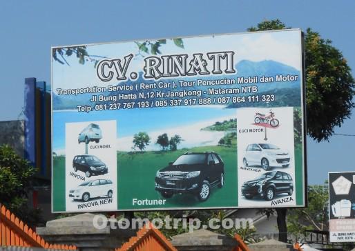 CV Rinati Rent Car Lombok