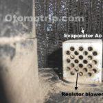 Evaporator ac mobil terios kotor
