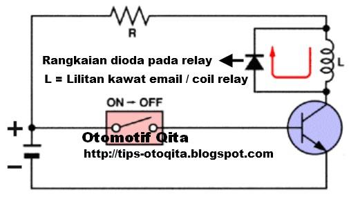 Fungsi dioda pada rangkaian relay