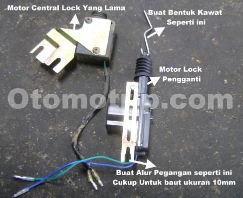 Mengganti motor auto lock atau central lock Avanza