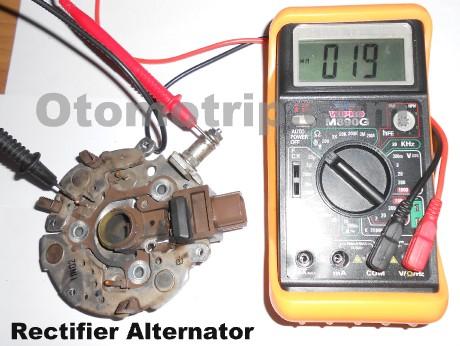 Cara ukur dioda rectifier dinamo amper