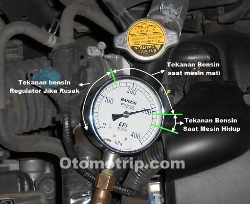 Cara ukur tekanan pompa bensin mobil efi