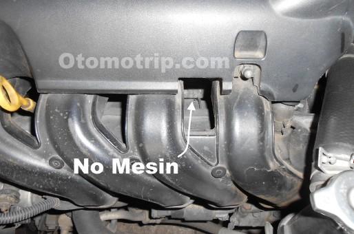 Letak Nomor Mesin Toyota 1NZ-FE Vios Yaris Limo