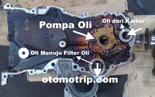Pompa oli pada front case mesin 1nz-fe vios yaris limo