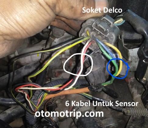 kabel sensor pada soket delco honda city type z