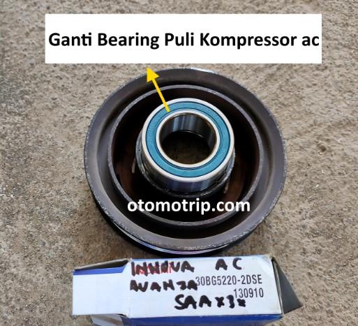 Ganti kolaher atau bearing puli kompressor ac mobilio