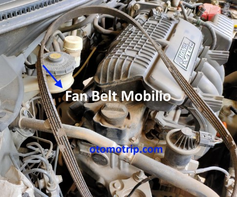 Fan belt honda mobilio retak