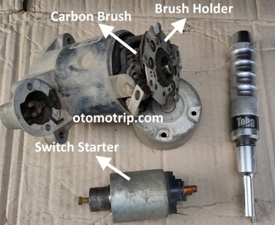 dinamo starter mobil saat di buka switch starter dan tutup holder belakang