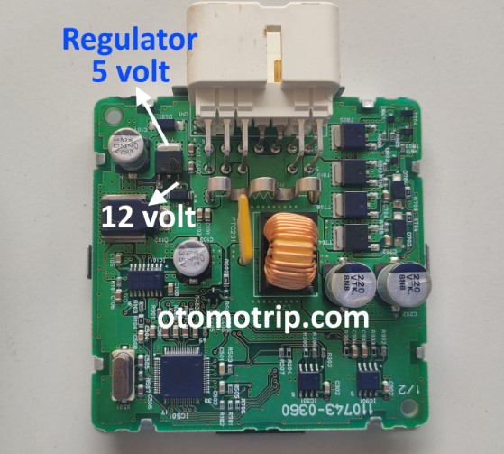 Regulator 5 volt pada driver turbo