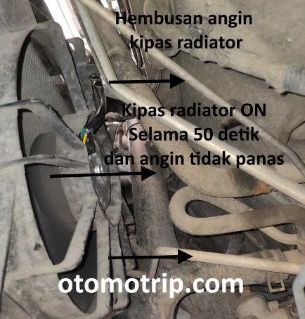 Hembusan angin kipas radiator apv berputar