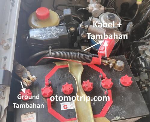 Kabel tambahan solusi mengatasi mesin diesel susah distarter saat mesin panas.